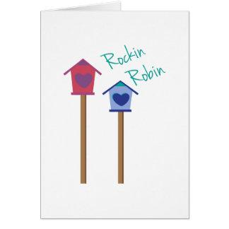 Cartão Pisco de peito vermelho de Rockin
