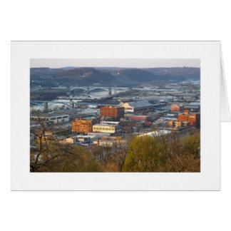 Cartão Pittsburgh industrial