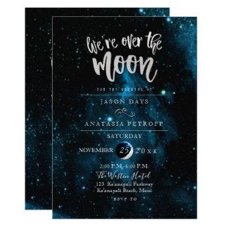 Cartão PixDezines nós estamos sobre o casamento da lua