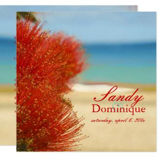 Cartão PixDezines Ohia/praia/casamento tropical