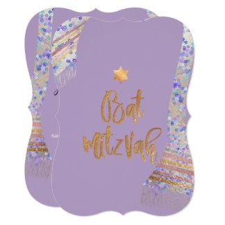 Cartão PixDezines Tallit/roxo da lavanda/bastão Mitzvah