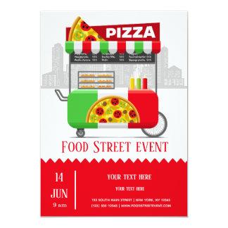Cartão Pizza da rua da comida