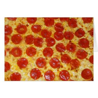 Cartão Pizza de Pepperoni