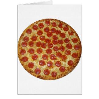 Cartão Pizza de Pepperoni deliciosa da pizza…
