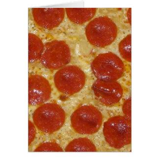 Cartão pizza de pepperoni grande