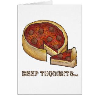 Cartão Pizza de Pepperoni profunda Foodie de Chicago dos