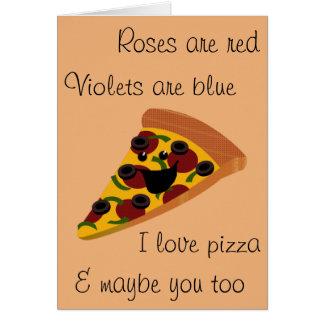 Cartão Pizza engraçada dos namorados