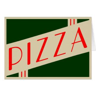 Cartão pizza retro
