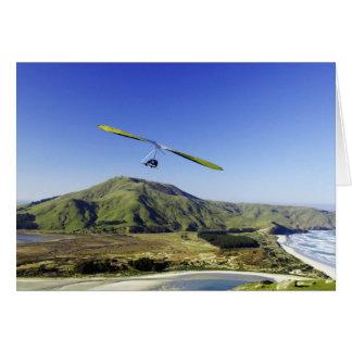 Cartão Planador de cair, península de Otago, perto de