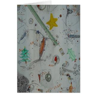 Cartão Plâncton da ilha christmas