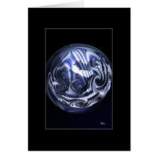 Cartão Planeta da porcelana