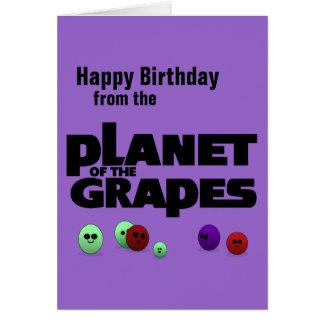 Cartão Planeta das uvas