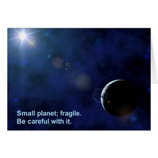 Cartão Planeta frágil