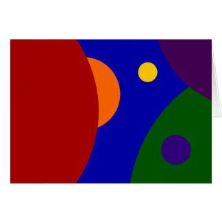 Cartão Planetas do arco-íris