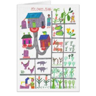 Cartão Plano da fazenda de Sarah