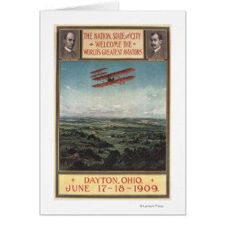 Cartão Plano dos irmãos de Wright