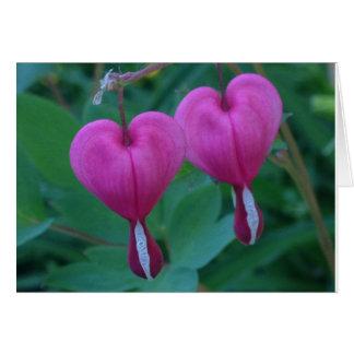 Cartão Planta dos corações de sangramento