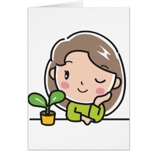 Cartão Plantas crescentes