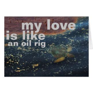 Cartão plataforma petrolífera