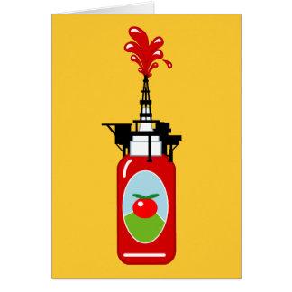Cartão Plataforma petrolífera da ketchup