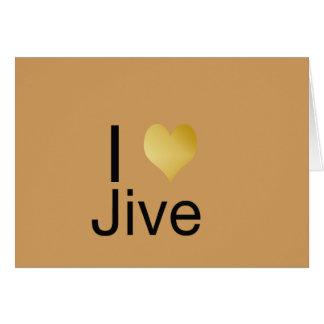 Cartão Playfully o coração elegante de I Jive