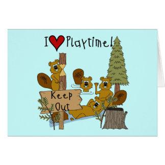 Cartão Playtime do castor