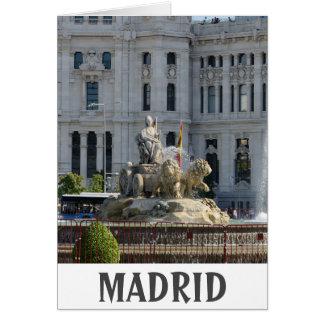 Cartão Plaza de Cibeles, Madrid