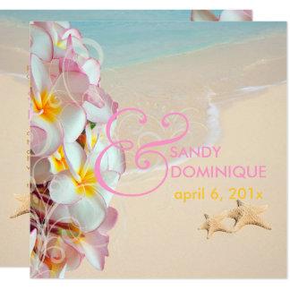Cartão Plumeria cor-de-rosa de