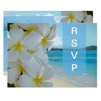 Cartão PLUMERIA LEI/BEACH de PixDezines RSVP
