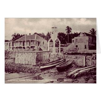 Cartão Plymouth - casa de alfândega & memorial de guerra