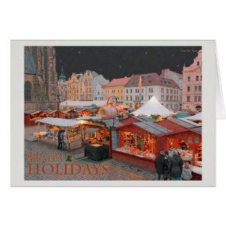 Cartão Plzen - luzes do mercado do Natal - HH