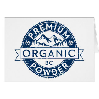 Cartão Pó orgânico superior do Columbia Britânica