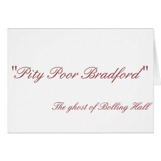 Cartão pobre de Bradford da piedade