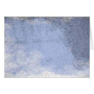 Cartão Poça da chuva da aguarela