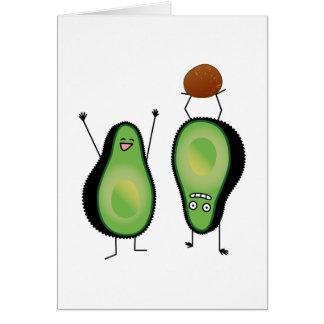 Cartão Poço engraçado do verde do handstand dos aplausos