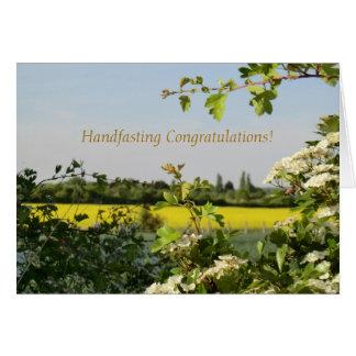 Cartão Pode florescer parabéns de Beltane Handfasting