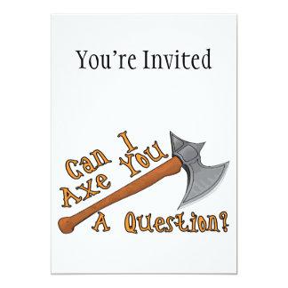 Cartão Pode o machado de I você uma pergunta