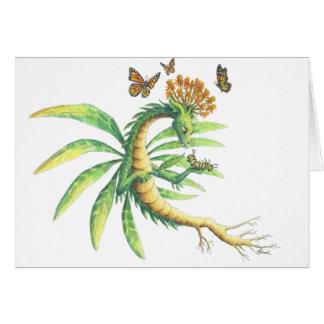 Cartão Pode seu dia ser brilhante com borboleta voa (o