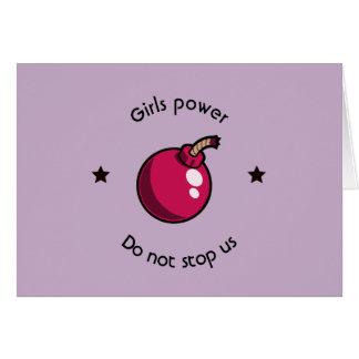 Cartão Poder das meninas