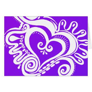 Cartão Poder do coração - mistura roxa reversa