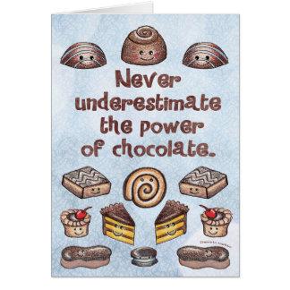 Cartão Poder Notecard do chocolate