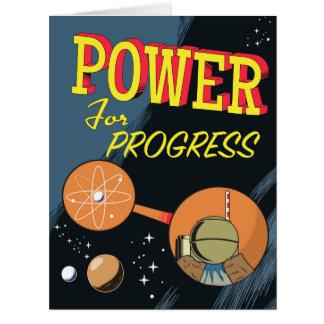 Cartão Poder para o poster atômico do vintage do