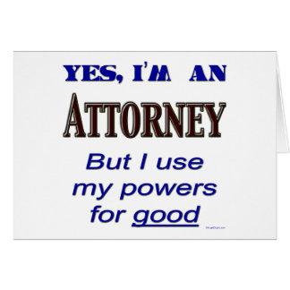 Cartão Poderes do advogado para bom dizer