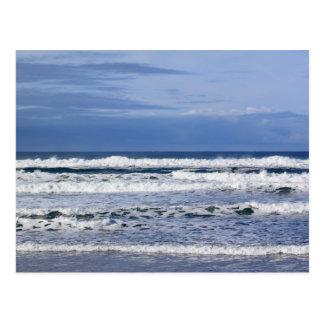 Cartão poderoso das ondas do Oceano Pacífico