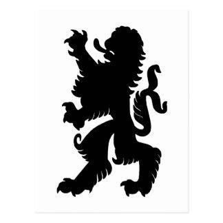 Cartão poderoso do leão