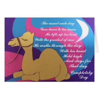 Cartão Poema cósmico do camelo