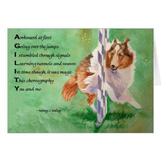 Cartão Poema da agilidade de Sheltie