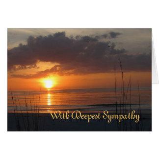 Cartão Poema de Frye do por do sol da simpatia