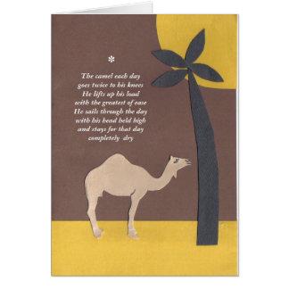Cartão poema do camelo