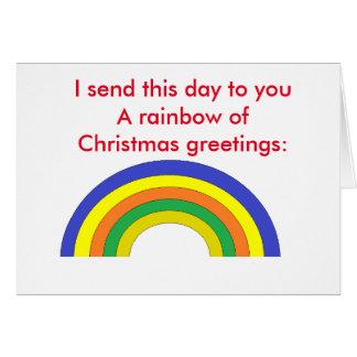 """Cartão Poema: Do """"cartão do arco-íris Natal"""""""